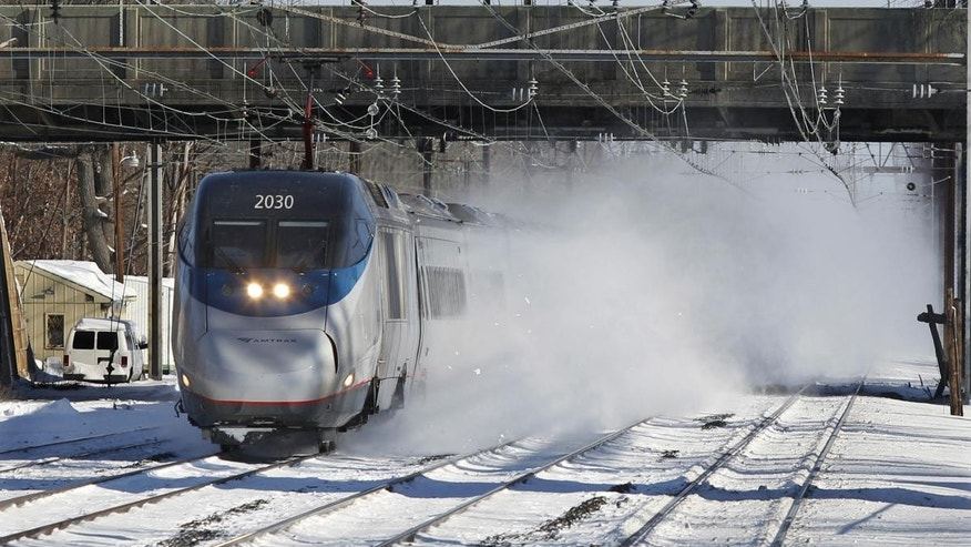 An Amtrak Acela train passes through West Windsor, New Jersey. (AP File Photo/Mel Evans)