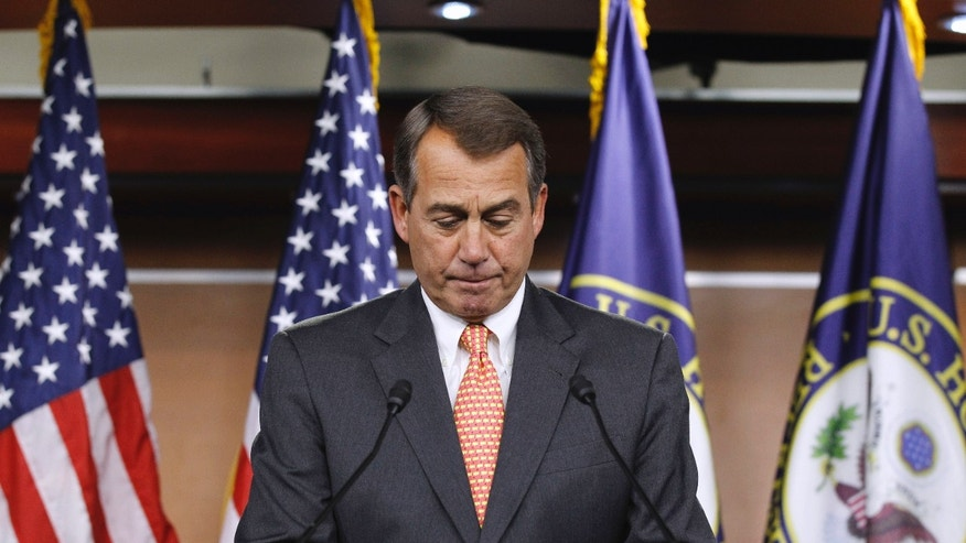 Feb. 17 : House Speaker John Boehner of Ohio during a news conference on Capitol Hill. With the House still at work on an initial package of $61 billion in cuts, Speaker John Boehner said the Republican majority would next turn its attention to 'wasteful mandatory spending.'