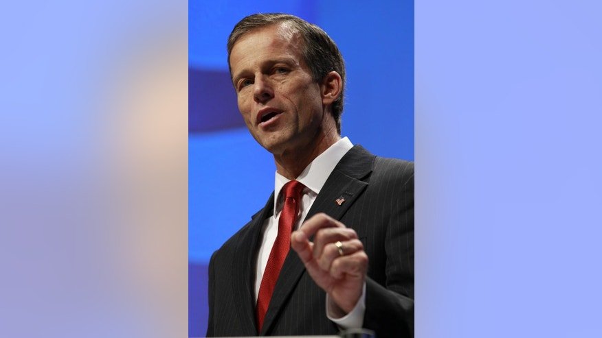 Sen. John Thune, R-S.D., speaks at the Conservative Political Action Conference (CPAC) in Washington, Friday, Feb. 11, 2011.(AP Photo/Alex Brandon)