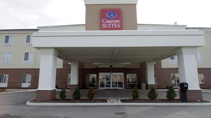 The hotel in Urbana, Ill., where Indiana Democrats fled to block contentious labor and education proposals in their own statehouse, is seen Wednesday, Feb. 23, 2011. Like the Wisconsin Senate Democrats, most Indiana House Democrats fled to neighboring Illinois in an effort to block votes on what they viewed as threatening legislation, denying the chamber the quorum needed to conduct business. (AP Photo/Seth Perlman)