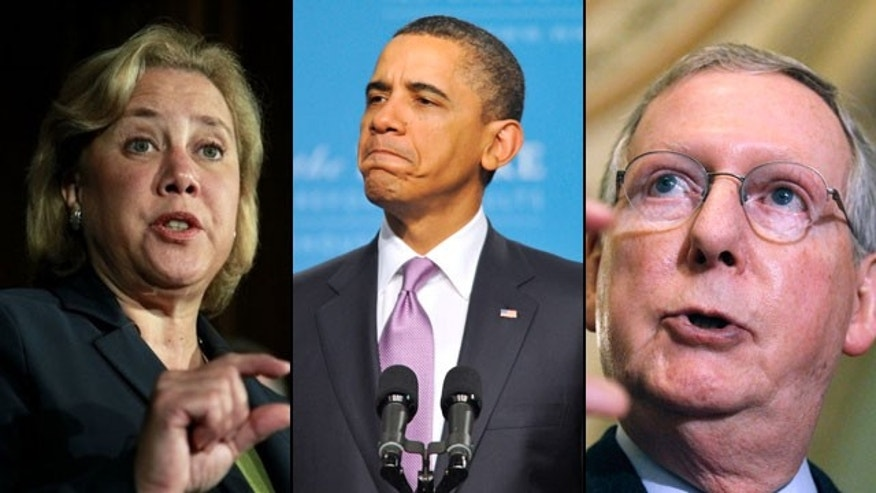 Sen. Mary Landrieu, D-La. and Senate Republican leader Mitch McConnell are questioning the Obama administration's energy policies and arguing more should be done to develop domestic sources of energy. (AP)