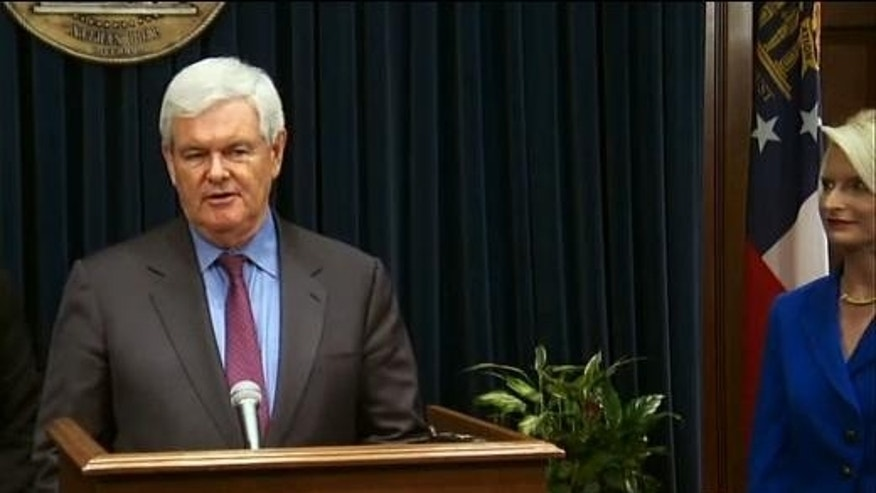 Former House Speaker Newt Gingrich announces the creation of an exploratory website in a potential bid for the 2012 Republican nomination. (Fox News Image)