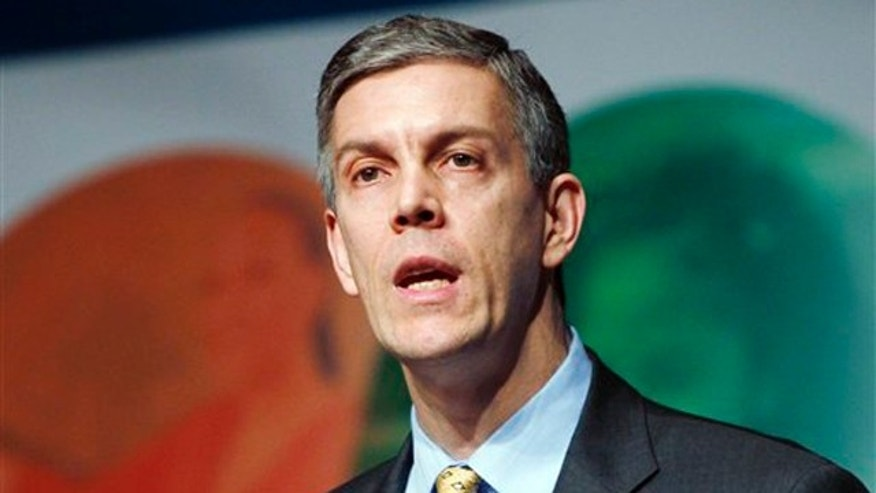 In this Feb. 15 file photo, Secretary of Education Arne Duncan speaks at the Education Summit in Denver.