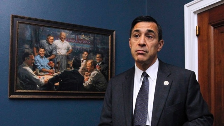 FILE: In this Sept. 21, 2010, file photo Rep. Darrell Issa, R-Calif. stands in his office on Capitol Hill. Issa is chairman of the House Oversight and Government Reform Committee.