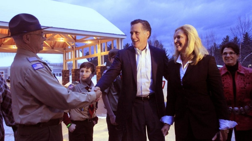 Mitt Romney in New Hampshire earlier this Month