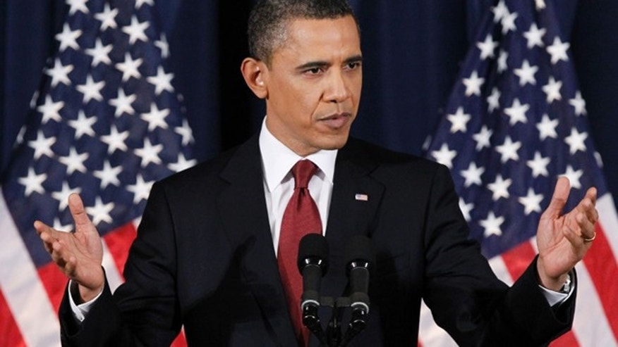 March 28, 2011: Obama says in a speech to the nation that the U.S. had 'a responsibility to act' in Libya.