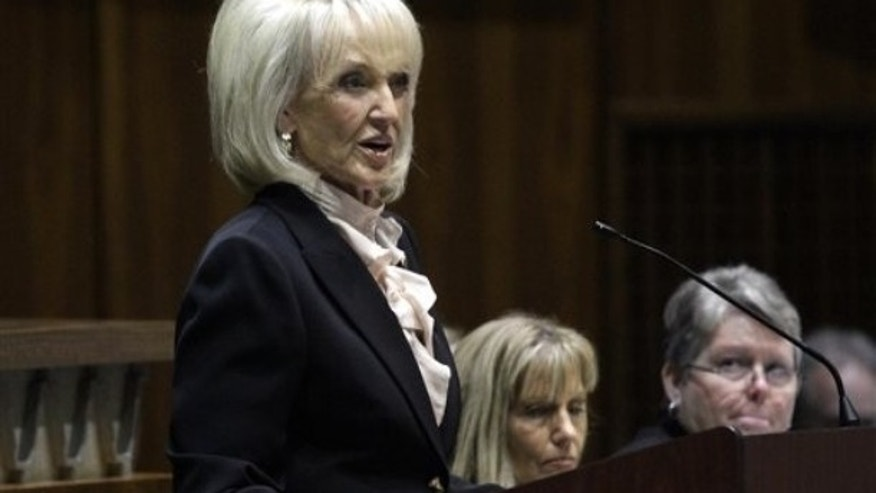 Jan. 10: Arizona Gov. Jan Brewer gives the State of the State address at the opening of the legislature at the Arizona Capitol in Phoenix.