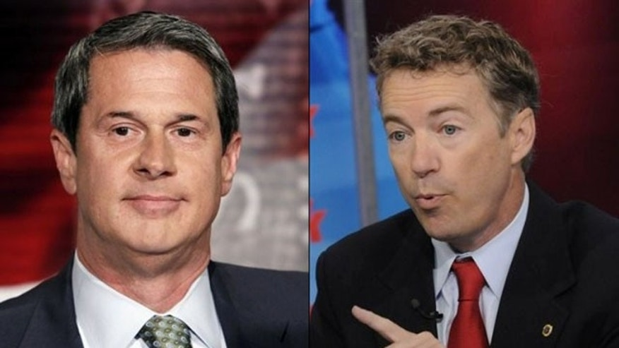 Shown here are Sen. David Vitter, left, and Sen. Rand Paul.