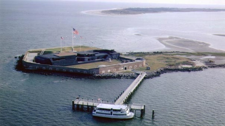 FILE: This National Parks Service photo shows Fort Sumter in South Carolina.  The looming shutdown of the federal government includes the National Parks Service, which could mean festivities starting this weekend commemorating the attack on Fort Sumter 150 years ago could happen without Fort Sumter.