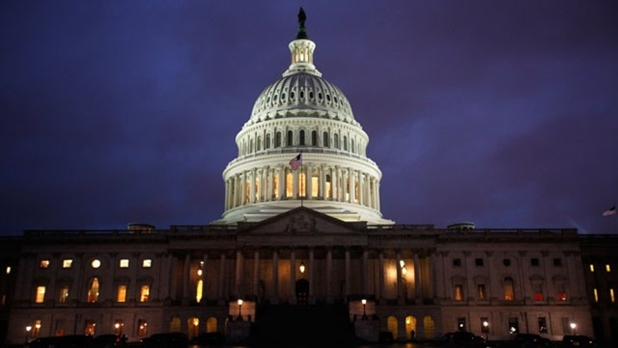 April 8: The U.S. Capitol was seen at dusk as a government shutdown loomed Friday night in Washington. (AP)