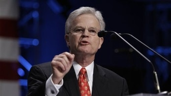 Former Louisiana Gov. Buddy Roemer speaks at the Iowa Faith and Freedom Coalition, Monday, March 7, 2011, at the Point of Grace Church in Waukee, Iowa. (AP Photo/Charlie Neibergall)