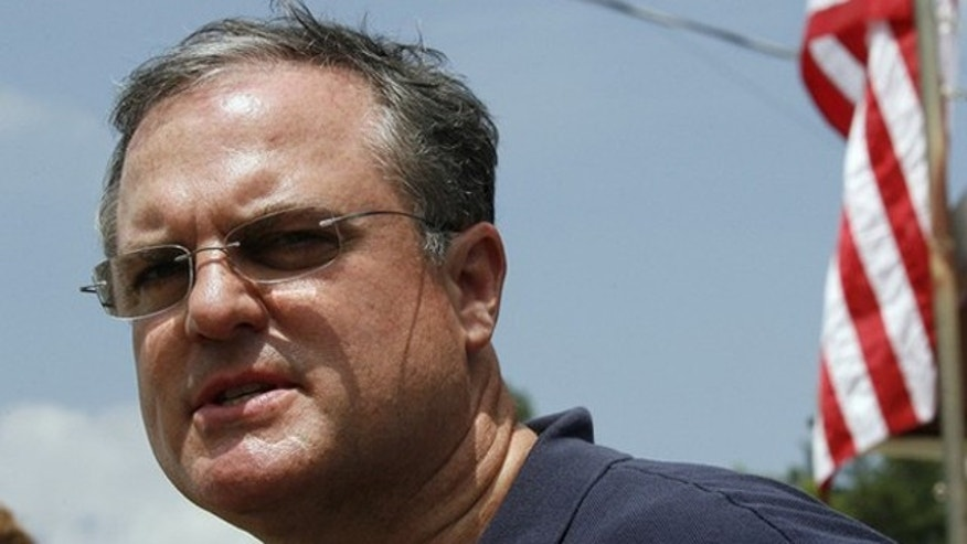 FILE: Sen. Mark Pryor speaks at a media conference at a command center near Caddo Gap, Ark.