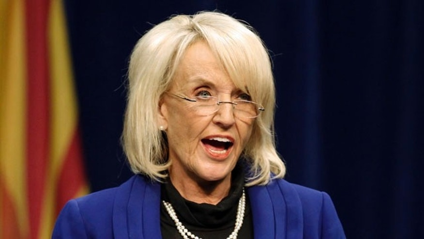 Arizona Gov. Jan Brewer, shown here Jan. 12 on the University of Arizona Campus. (AP)