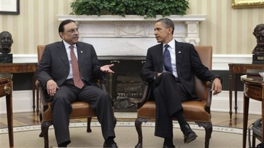 In this Jan. 14 photo, President Obama meets with Pakistan's President Asif Ali Zardari in the Oval Office at the White House.