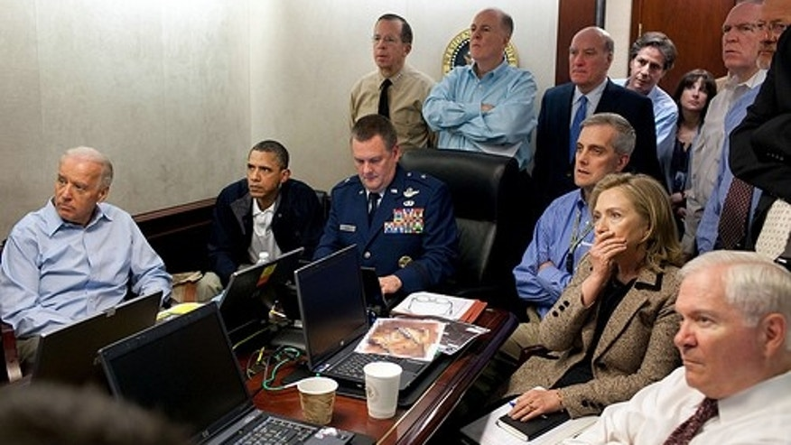 President Obama and his national security team monitor the operation which resulted in the killing of terrorist Usama bin Laden. Their expressions say it all. (White House photo)