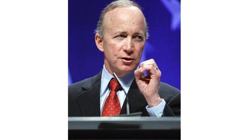 Feb. 2011: Gov Mitch Daniels speaks at the Conservative Political Action Conference in Washington.