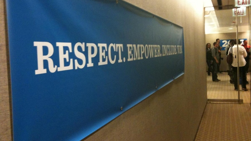 A sign in President Obama's new Chicago campaign office. (Fox News Photo)