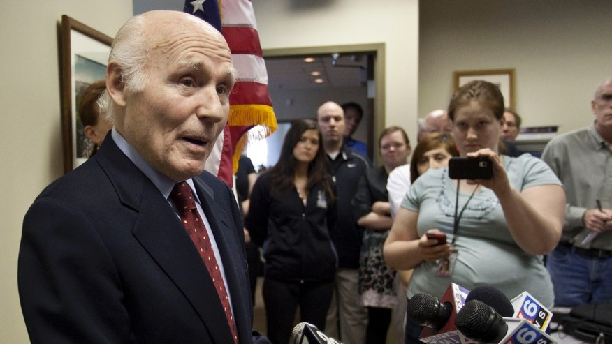 U.S. Sen. Herb Kohl, D-Wis. speaks at a news conference Friday, May 13, 2011, in Milwaukee. Kohl said he has decided not to run for re-election after serving in the U.S. Senate since 1989.