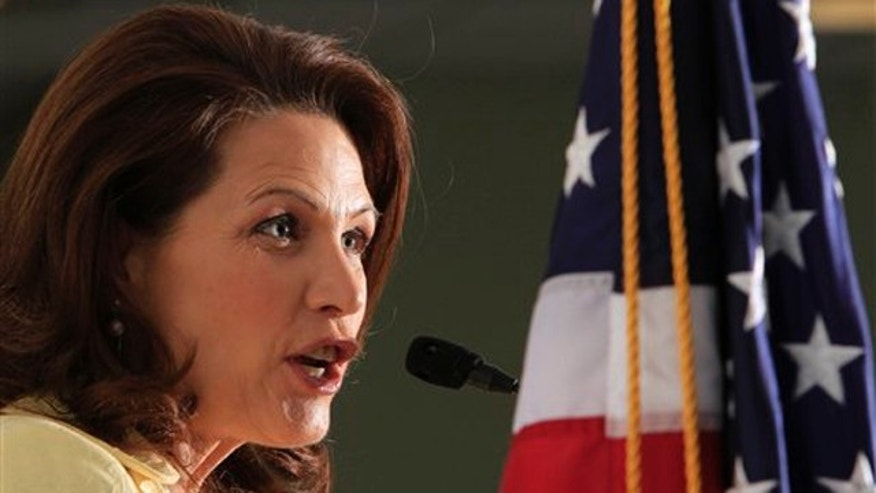 Rep. Michele Bachmann speaks during a forum April 30 in Manchester, N.H.
