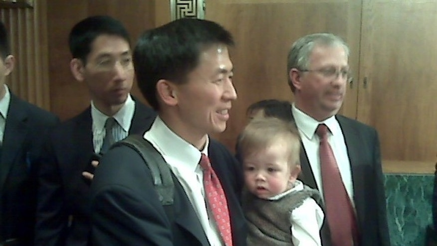 Federal judge nominee Goodwin Liu arrives at a March 2 Senate Judiciary Committee Hearing (Fox News Photo)