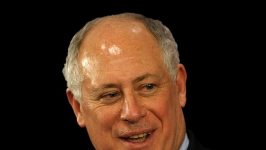 Illinois Gov. Pat Quinn speaks during  a press conference Thursday, Jan. 29, 2009 after being sworn in as governor after Rod Blagojevich was impeached and removed from office. (AP Photo/Eric Y. Exit)