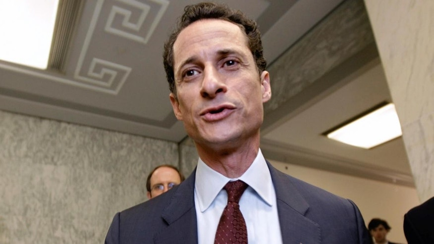 Rep. Anthony Weiner, D-N.Y. walks from his office to an elevator in the Rayburn House Office Building for a vote, on Capitol Hill in Washington, Wed., June 1, 2011. (AP Photo/J. Scott Applewhite)