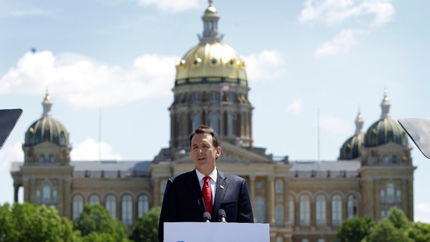FILE: In this May 23, 2011, photo, former Minnesota Gov. Tim Pawlenty discusses his presidential candidacy during a town hall meeting at the State of Iowa Historical Building in Des Moines, Iowa.