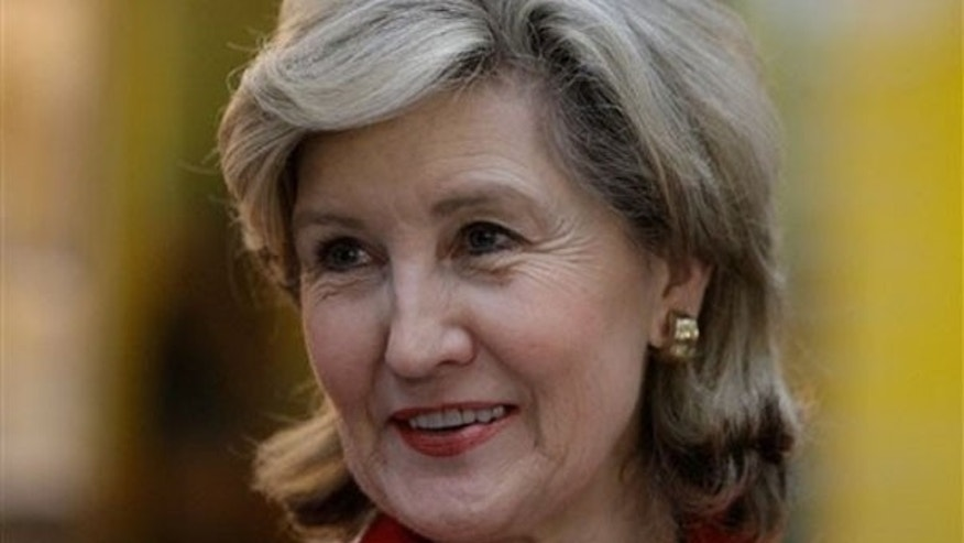 Sen. Kay Bailey Hutchison visits Wharton, Texas, March 1, 2010.
