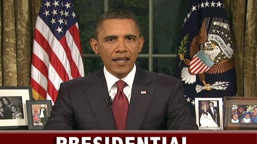 AP image/President Obama addressing the nation about Iraq on August 31, 2010