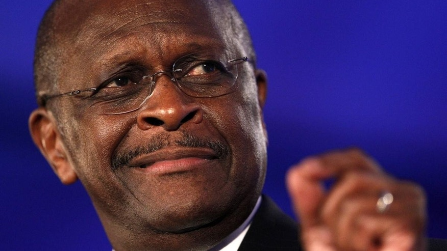 Herman Cain speaks at the Republican Leadership Conference in New Orleans June 17. (AP)