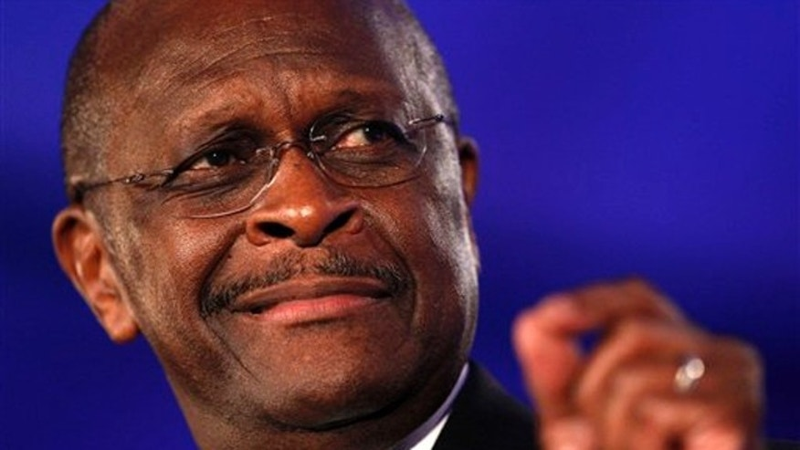 Republican presidential hopeful Herman Cain speaks at the Republican Leadership Conference in New Orleans June 17.