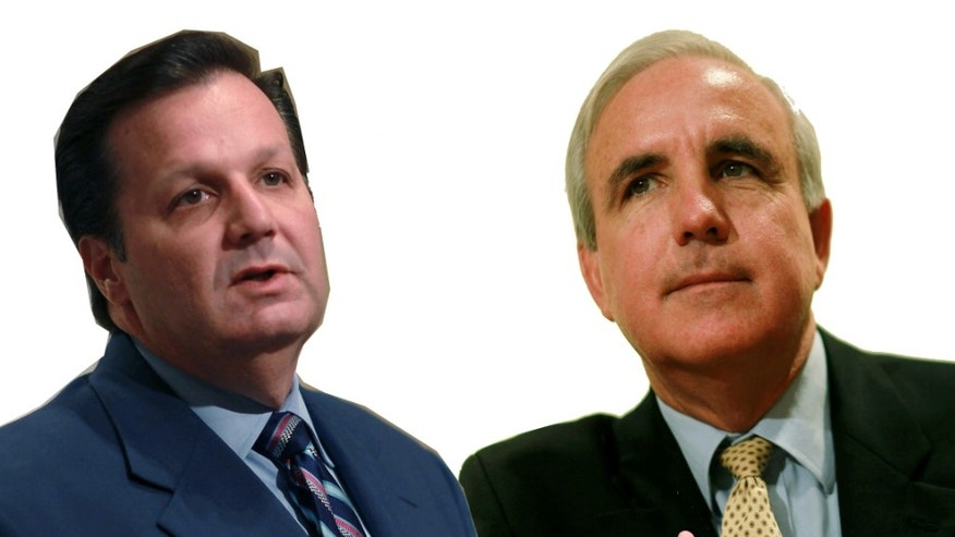 Julio Robaina, right, and Carlos Gimenez, left, are vying to become the next mayor of Miami-Dade County.