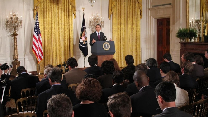 President Obama speaks to members of the media in the East Room of the White House Tuesday, June 29, 2011. (FOX News Photo)