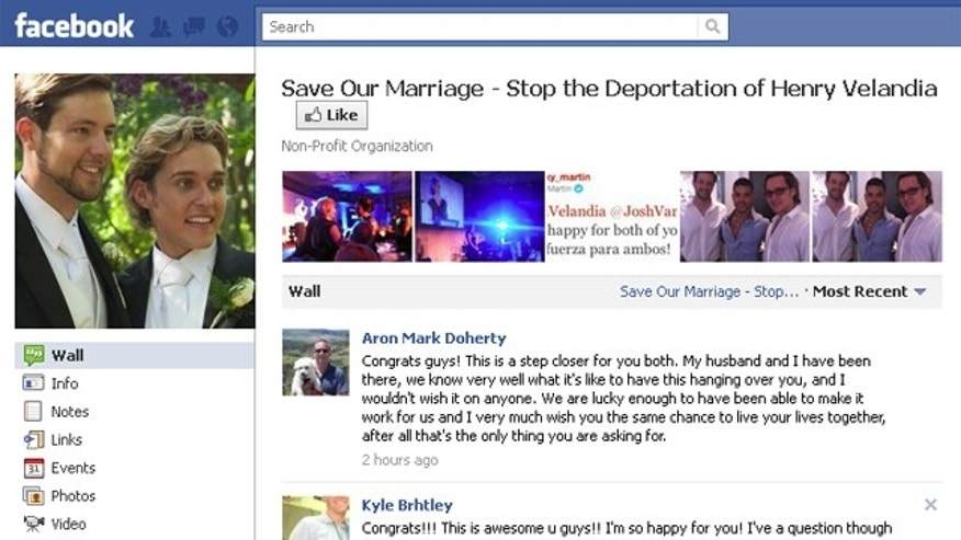 More than 10,000 people have indicated their support of stopping the deportation hearings of Henry Velandia on a Facebook page seen above.