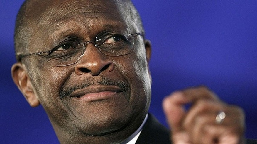 June 17: Republican presidential hopeful Herman Cain speaks at the Republican Leadership Conference in New Orleans. Bolstered by support from his loyal radio talk-show audience and tea partyers, businessman Herman Cain has revved up mainstream conservatives, rising recently to third place in a poll of voters in Iowa, the leadoff caucus state.