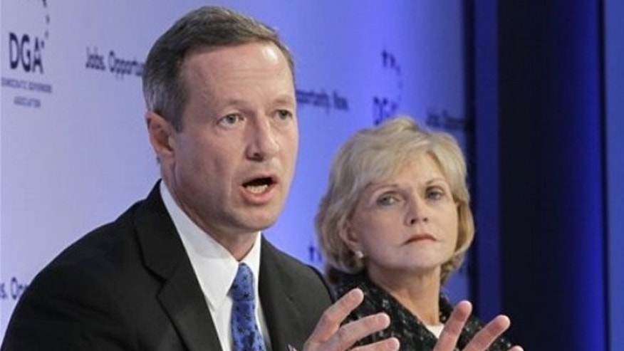 Feb. 25: North Carolina Gov. Beverly Perdue looks on at right as Maryland Gov. Martin O'Malley, chairman of the Democratic Governors Association, leads a discussion on jobs and the economy in Washington.