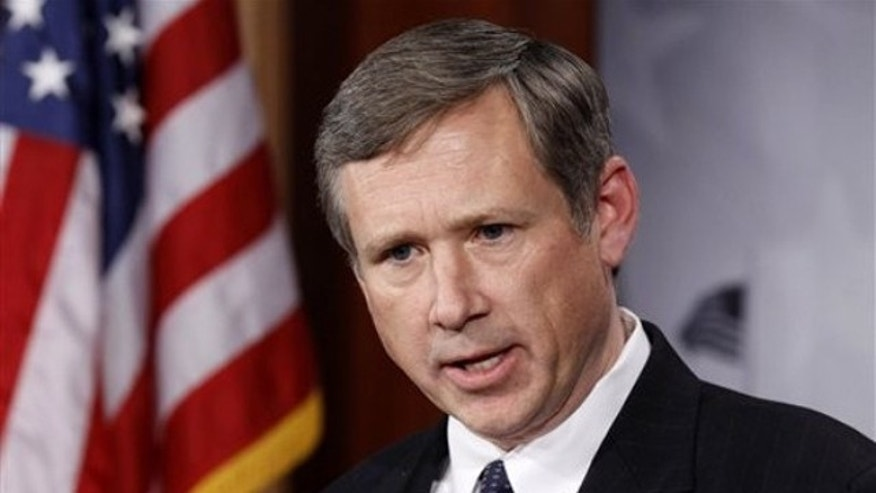 FILE: Dec. 16, 2010: Illinois GOP Sen. Mark Kirk talks to the media on Capitol Hill. in Washington
