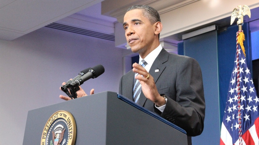 President Obama speaks to reporters July 15 in the briefing room of the White House in Washington.