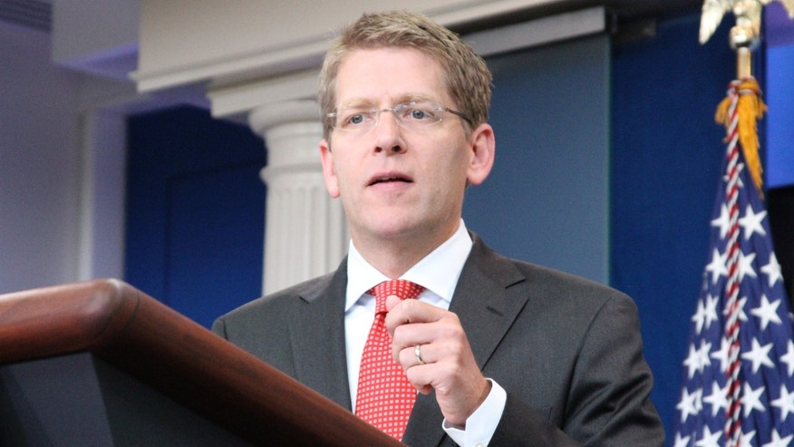 White House Press Secretary Jay Carney speaks at his daily news briefing at the White House July 20.