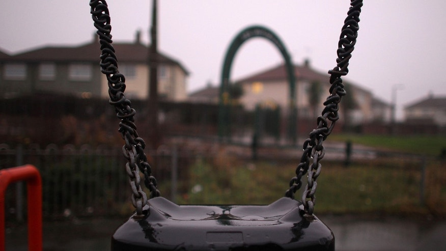 DONCASTER, ENGLAND - JANUARY 22:  An empty swing sits in Edlington Recreation play park from where the Edlington torture attack victims were enticed from April. January 22, 2010 in Doncaster, England. The two defendents, who were aged 10 and 11 at the time, were sentenced to an indefinite period of detention today at Sheffield Crown Court. The boys filmed the attack on two younger boys with a mobile phone and left the victims for dead in an area of waste ground in Edlington in Yorkshire last April.  (Photo by Christopher Furlong/Getty Images)