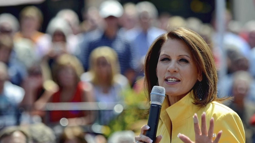 Michele Bachmann at a rally in Spartanburg, SC (AP)