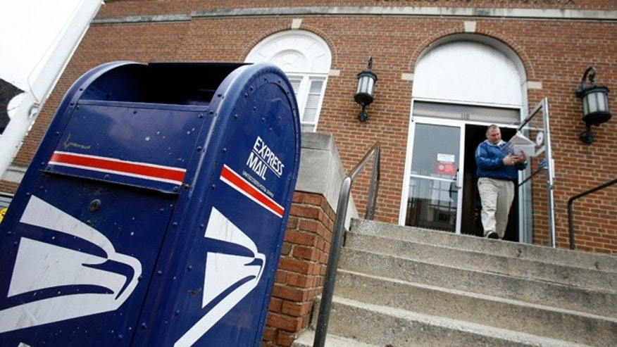 A man leaves the U.S. post office in Blacksburg, Virginia April 19, 2007.