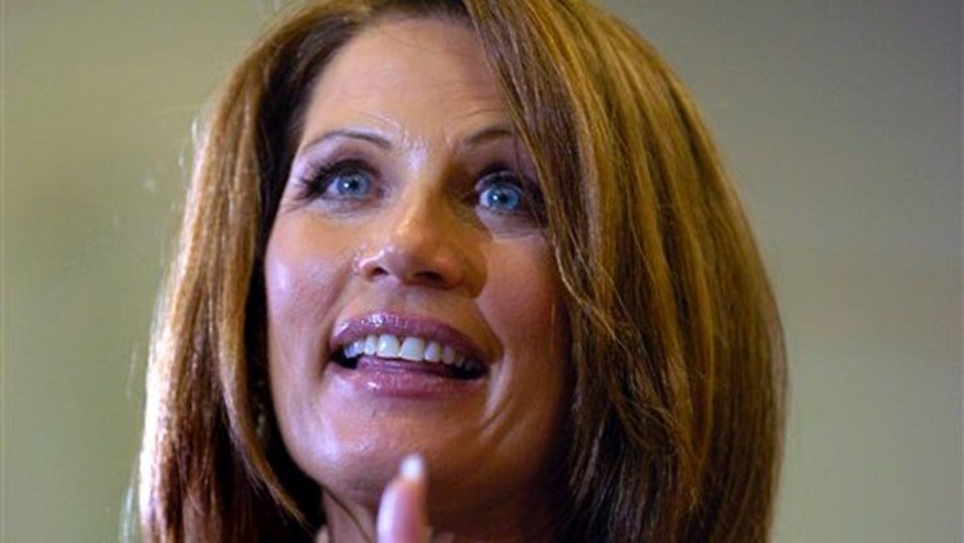Republican presidential candidate, Rep. Michele Bachmann, R-Minn., addresses supporters at Sahib Shrine in Sarasota, Fla. on Sunday, Aug. 28, 2011.