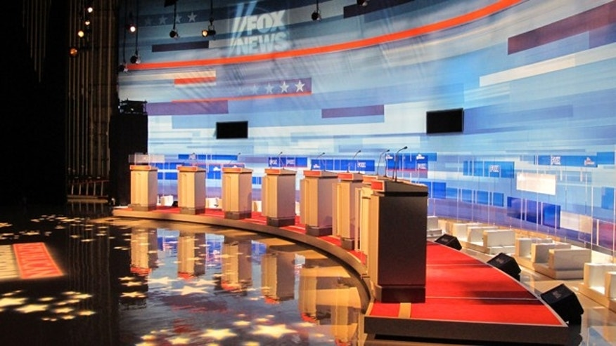 Aug. 11: The stage is set for the Fox News GOP Debate.