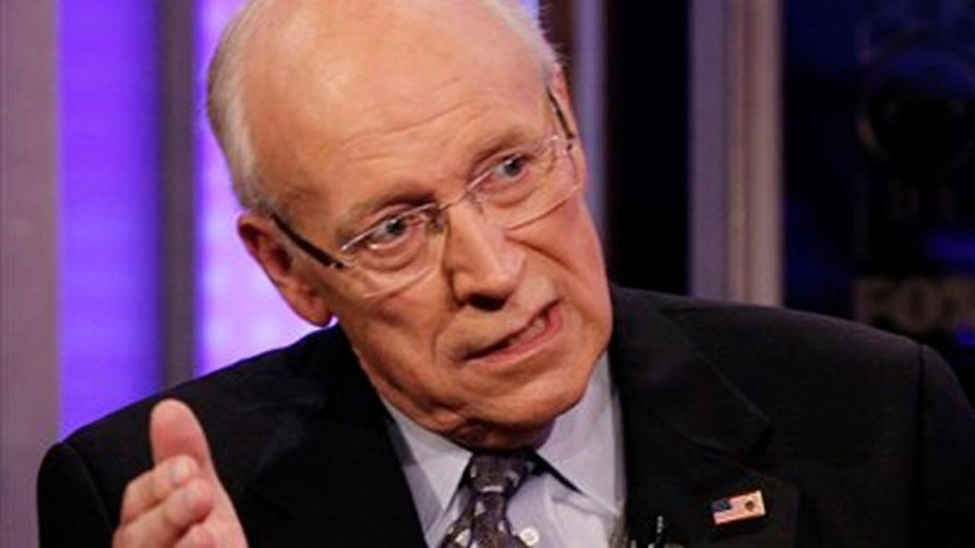 Former Vice President Dick Cheney is interviewed on Fox News in New York Aug. 31.