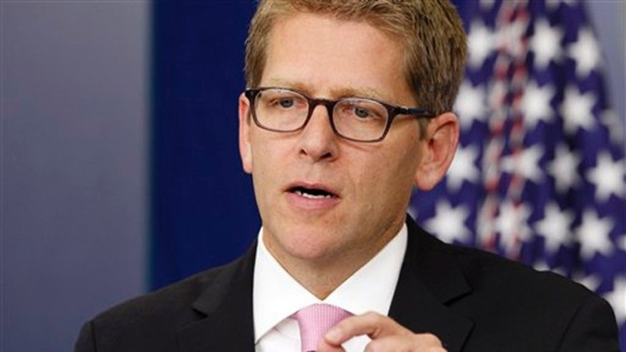White House Press Secretary Jay Carney briefs reporters at the White House Sept. 6.