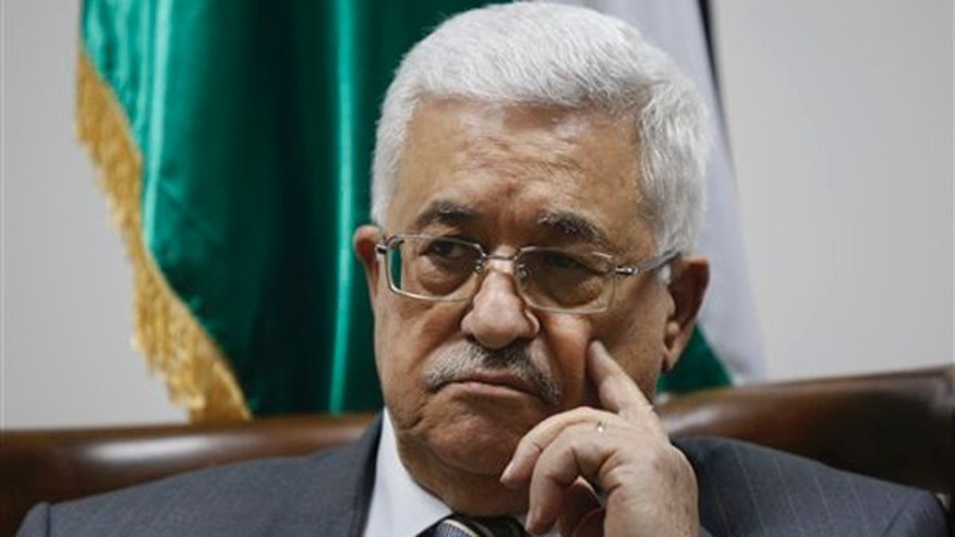 Palestinian President Mahmoud Abbas pauses during a meeting with Palestinian doctors at his office in the West Bank city of Ramallah Sept. 6.