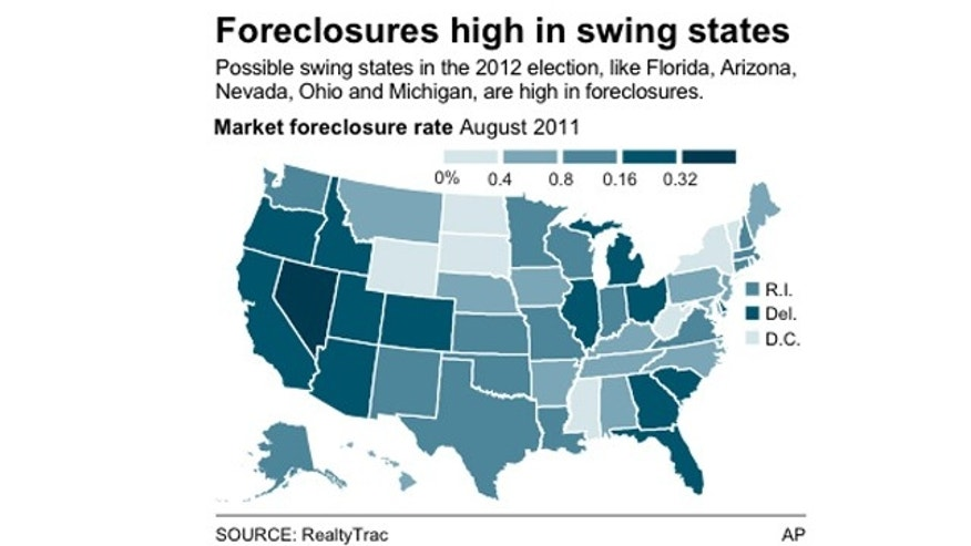 Chart shows the market foreclosure rate by state