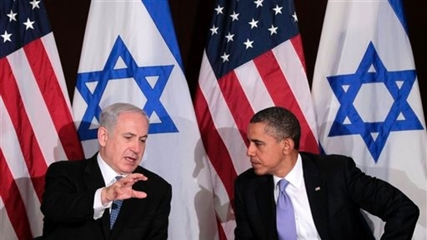 September 21: President Barack Obama meets with Israeli Prime Minister Benjamin Netanyahu at the UN Building in New York.