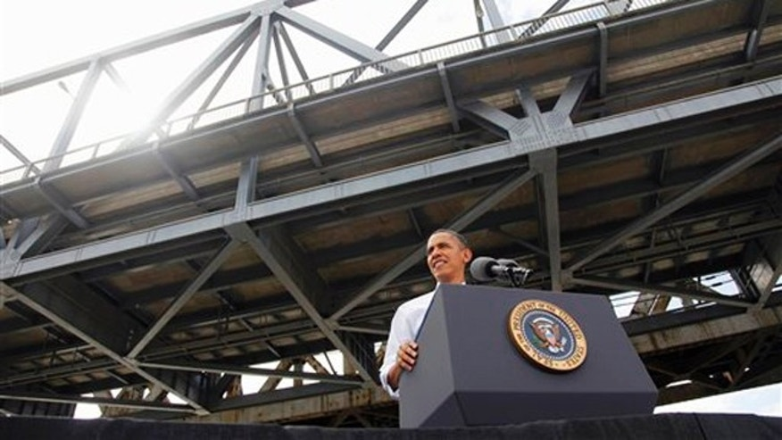 Thursday: President Obama speaks at the Brent Spence Bridge regarding his American Jobs Act legislation in Cincinnati, Ohio.